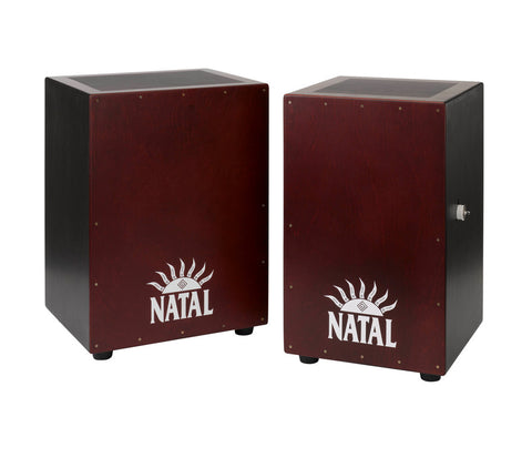 Natal Large Black and Red Cajon