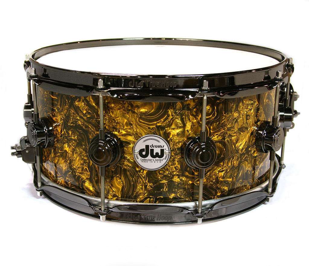 dw collectors series gold abalone snare drum. Black Bedroom Furniture Sets. Home Design Ideas