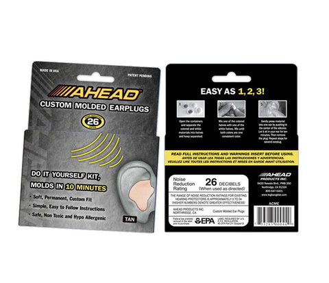 Ahead Moulded Ear Plugs
