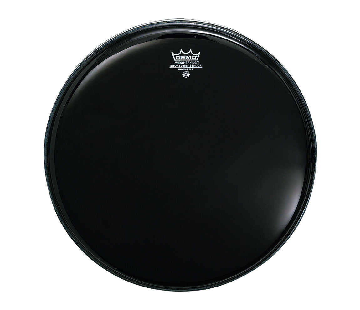 "Remo 20"" Ebony Ambassador Bass Drum Head"