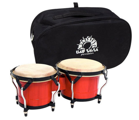 GEWApure Bongo Club Salsa 6.5 & 7.5 in Claret with Black Hardware