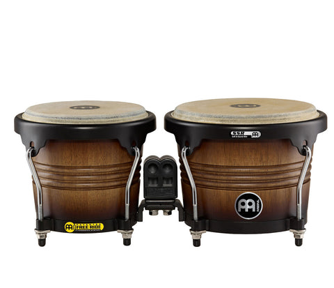 "Meinl Free Ride Series Wood Bongo 6 3/4"" & 8"" Antique Tobacco Burst"