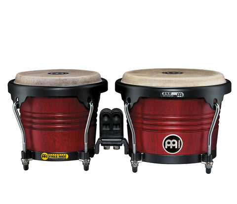 "Meinl Free Ride Series Wood Bongo 6 3/4"" & 8"" Cherry Red"