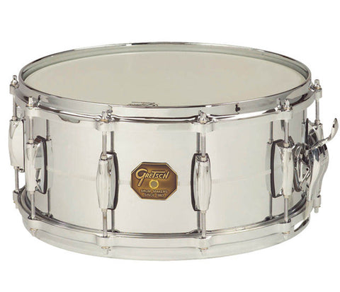 "Gretsch G-4000 Series 14"" x 5"" Chrome Over Brass Snare Drum"