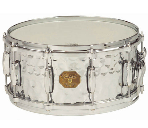 Gretsch Snare G4000 Series 13‰۝ x 6‰۝ Hammered Chrome Over Brass Shell Snare Drum
