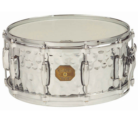 Gretsch G4000 Series - Hammered Chrome Over Brass Snare Drum