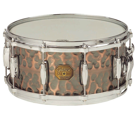 Gretsch G4000 Series Hammered Antique Copper Snare Drum