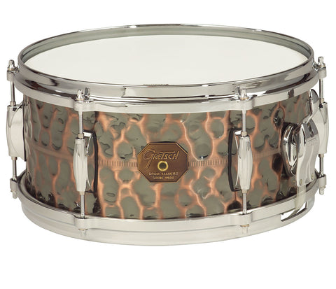 G4168HC Gretsch Hammered Antique Copper Snare Drum