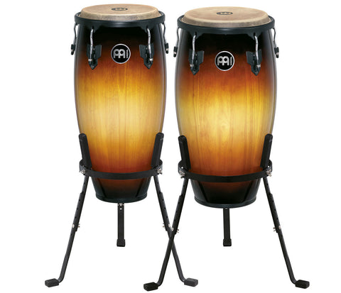 "Meinl Headliner Series Conga Set Vintage Sunburst 11"" & 12"" with Basket Stands"