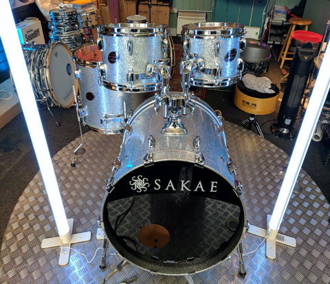 "SAKAE ""THE ALMIGHTY"" 4-PIECE MAPLE SHELL PACK IN SILVER SPARKLE"