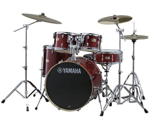 "Yamaha Stage Custom 5-Piece 20"" Drum Kit in Cranberry Red"