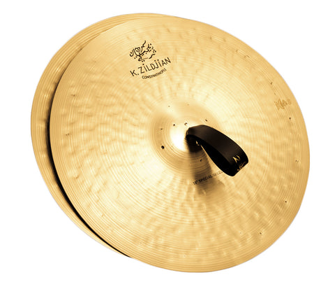 "Zildjian 18"" K Constantinople Special Selection Medium Heavy Pair with Pads, Straps & Bag"