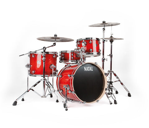 Natal Arcadia Jazz 4-Piece Shell Pack in Red Oyster