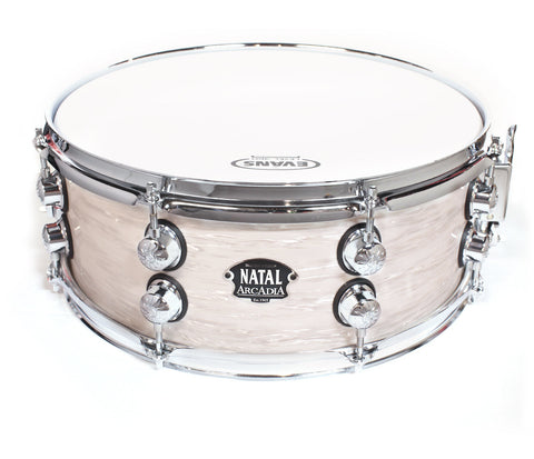 "Limited Edition Natal The '65 14"" x 5.5"" Snare Drum in White Oyster"
