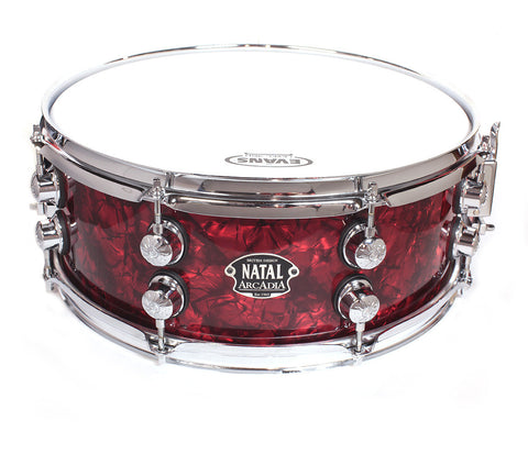 "Limited Edition Natal The '65 14"" x 5.5"" Snare Drum in Red Oyster"