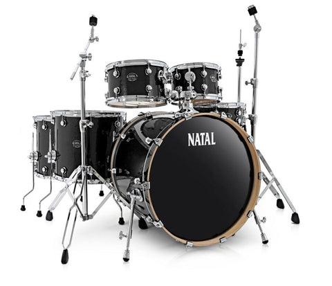 Natal Arcadia UFX Plus 6-Piece Drum Kit in Wrap Finishes (Hardware & Paiste Cymbals Included)