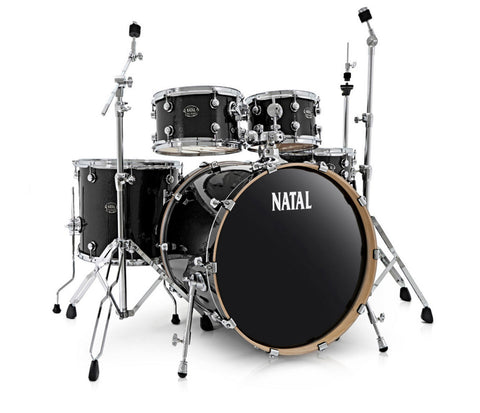 Natal Arcadia UFX Plus 5-Piece Birch Drum Kit in Black Sparkle (Hardware Included)