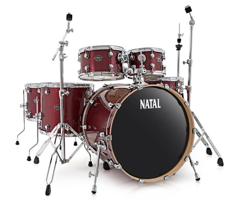 Natal Arcadia Red Sparkle Drum Kit