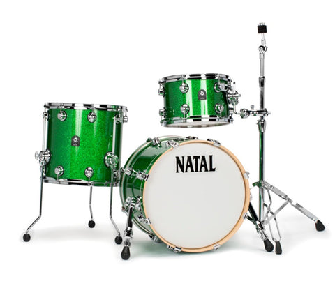 "Natal 'The Originals' 3-Piece Traditional Jazz 18"" Maple Shell Drum Kit, Natal, Acoustic Drum Kit, The Originals, Traditional Jazz, Drum Lounge, Natal Drums"