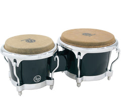 LP Fiberglass Bongos Black Chrome Hardware