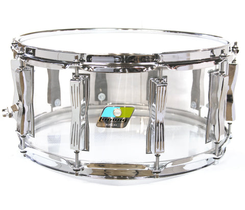 "Ludwig Vistalite 14"" x 6.5"" Snare Drum in Clear"