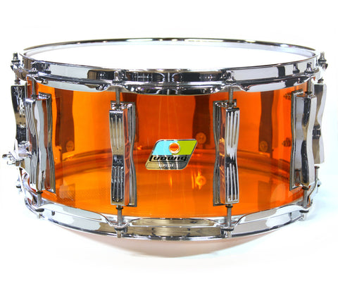 "Ludwig Vistalite 14"" x 6.5"" Snare Drum in Amber"
