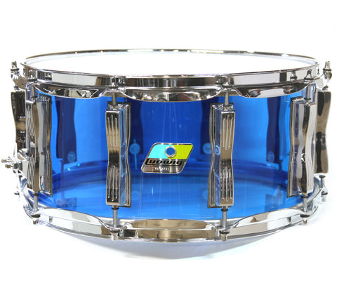 "Ludwig Vistalite 14"" x 6.5"" Snare Drum in Blue"