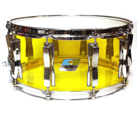 "Ludwig Vistalite 14"" x 6.5"" Snare Drum in Yellow"