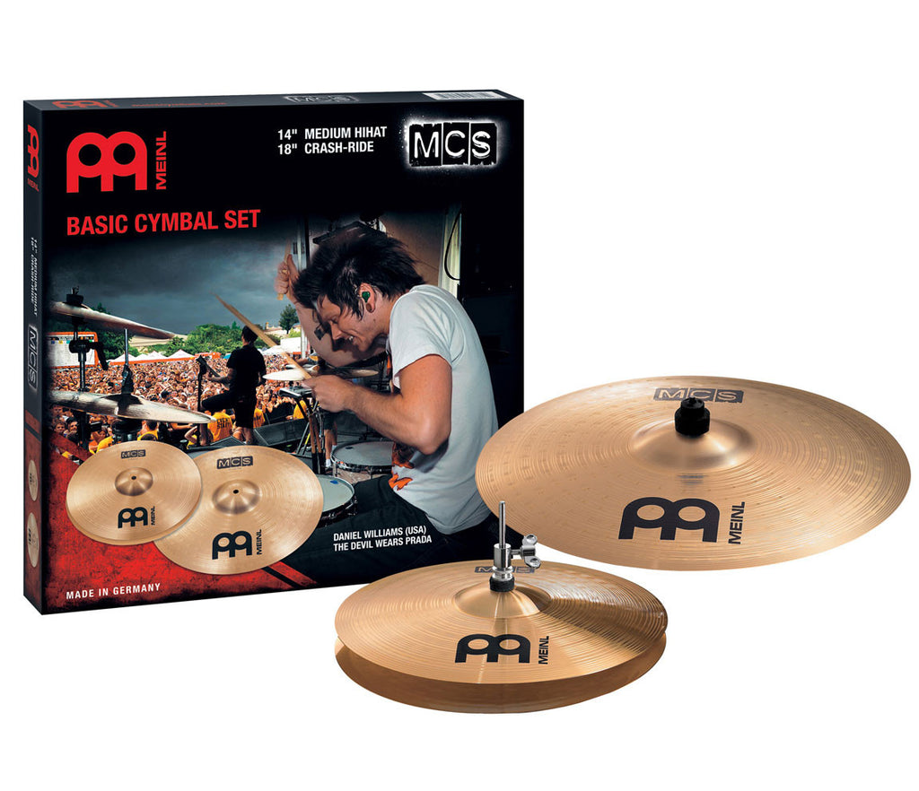 "Meinl MCS Basic 14/18 Cymbal Set (14"" Medium Hi-Hat, 18"" Crash-Ride)"