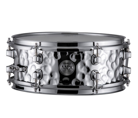 "Mapex MPX 14"" x 5.5"" Hammered Steel Snare Drum"