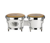 Natal Classic Series Fibreglass Bongos in White, NCSB04W, Fibreglass Bongos, Classic Series, Vendor: Natal, Type: Bongos, Finish: White