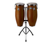 "Natal 10"" & 11"" Natural Wood 2 Stand Matt Honey Congas, Vendor: Natal, Type: Congas, Size:11"", Size: 10"", Finish: Matt Honey, Natal Percussions, NGU1011-MCH"