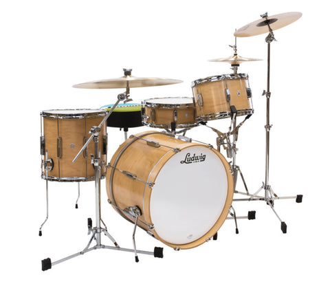 Ludwig Club Date 3-Piece Shell Pack - Pro Beat in Natural Satin