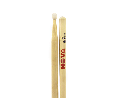 Vic Firth Nova 5B Drumsticks - Natural Nylon Tips