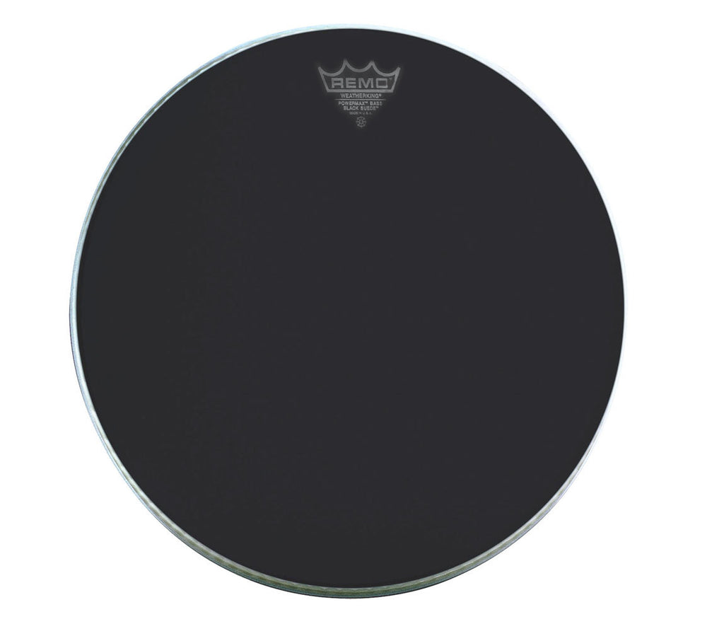 "Remo 14"" Powermax Black Suede Marching Bass Drum Head"