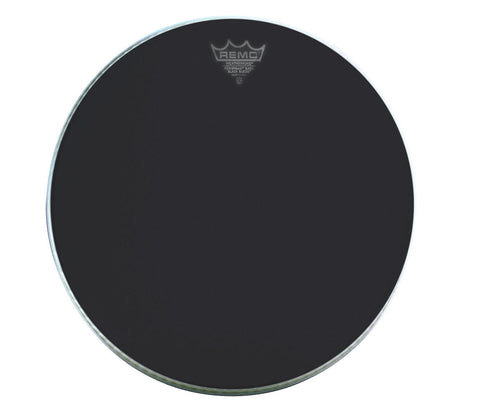 "Remo 18"" Powermax Black Suede Marching Bass Drum Head"