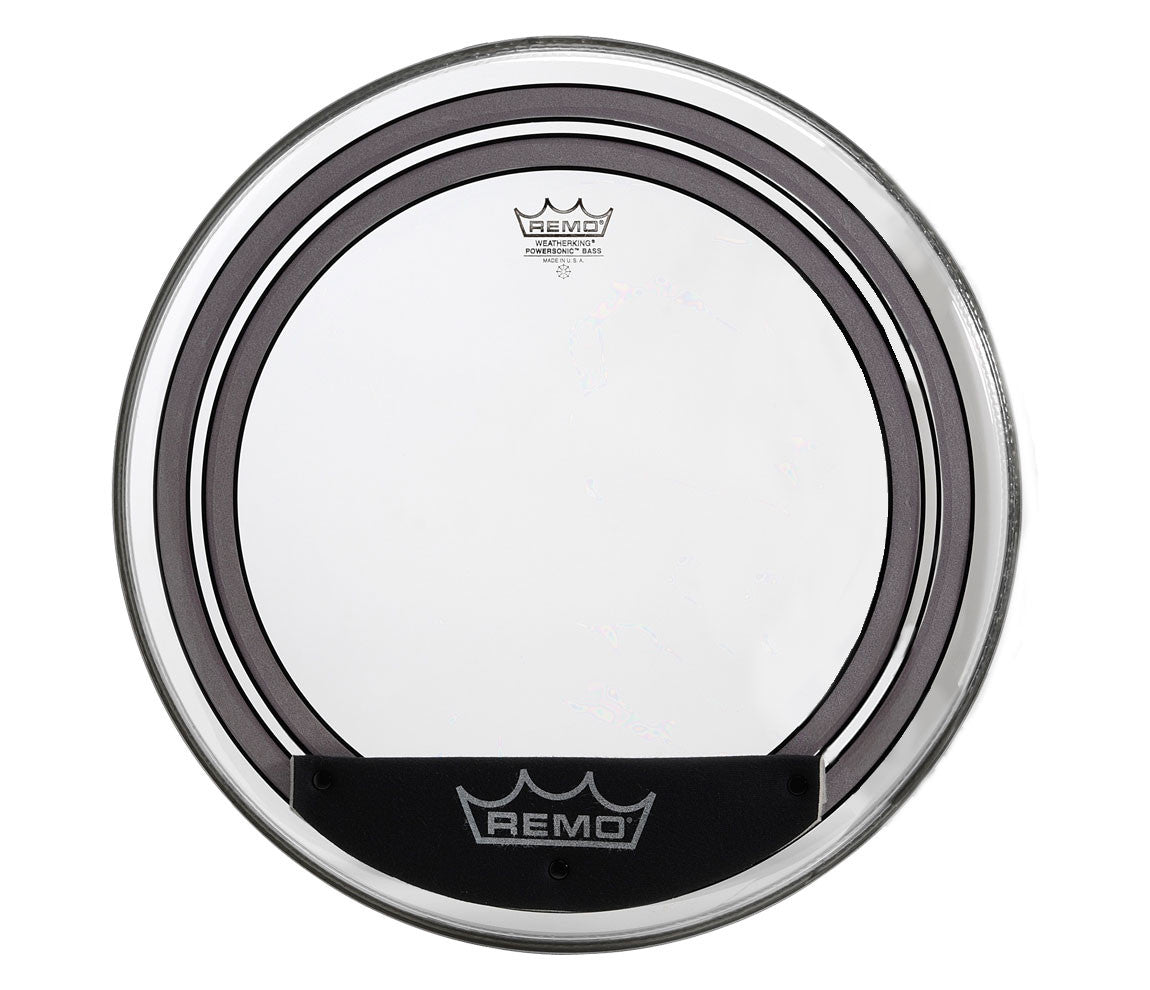 remo 22 powersonic clear bass drum head with internal subsonic dampen newcastledrumcentre. Black Bedroom Furniture Sets. Home Design Ideas