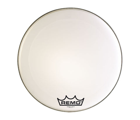 "Remo 16"" Powermax Ultra White Marching Bass Drum Head"