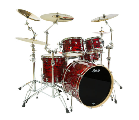 Ludwig Keystone X 4-Piece Shell Pack in Red Swirl