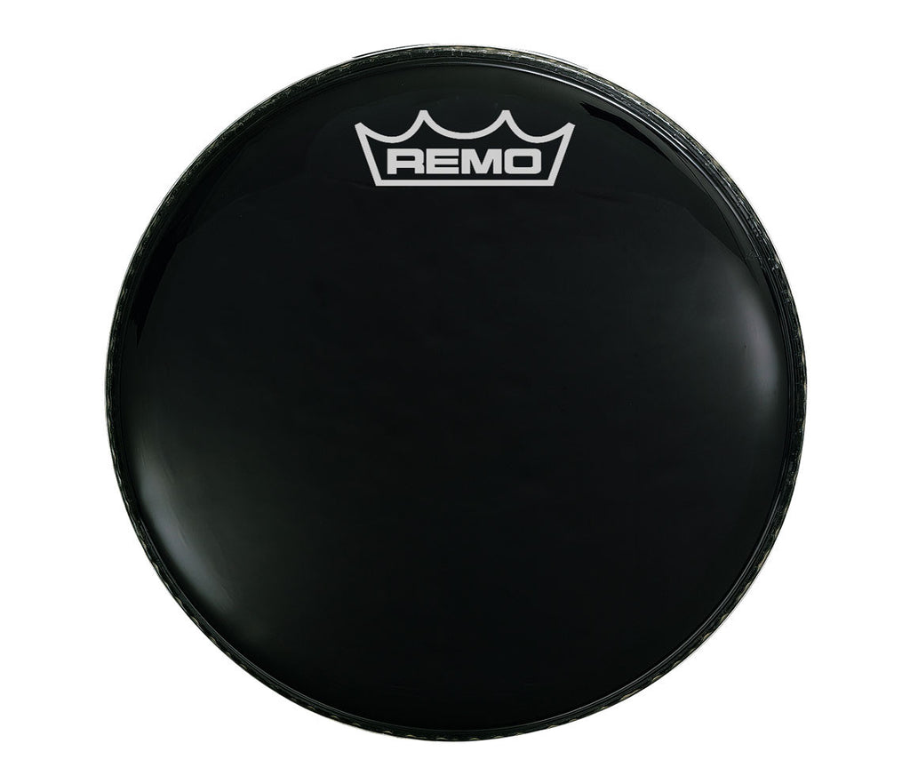 "Remo 20"" Ebony Ambassador Bass Drum Head with Crown logo"