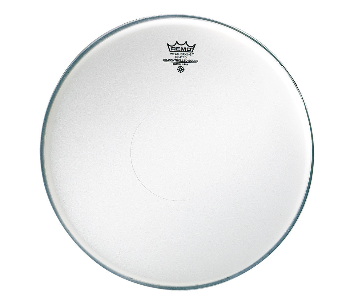 "Remo 14"" CS Coated Snare Head with coated dot on upper side"