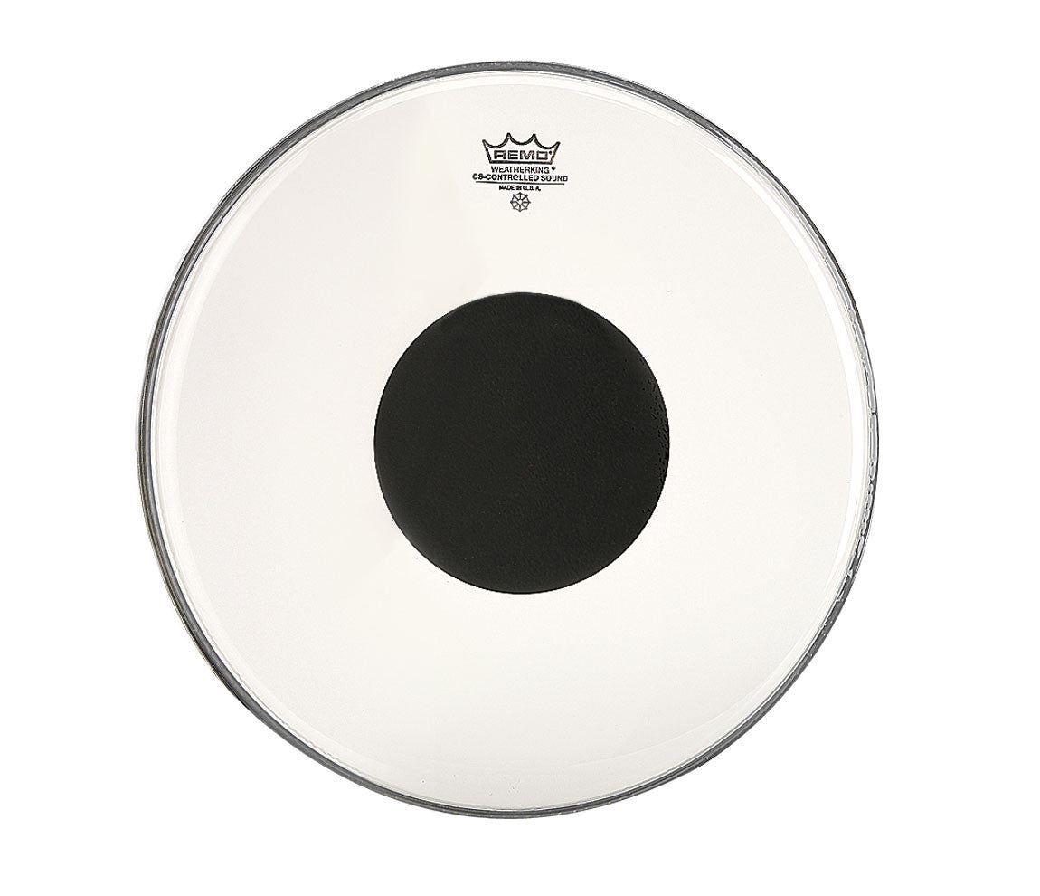 "Remo 15"" CS Clear Tom/ Snare/ Floor Tom Head with black dot"