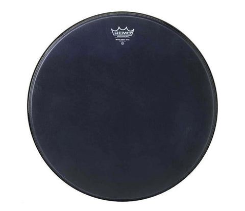 "Remo 8"" Emperor Ebony Suede Crimplock Marching Tom Head"