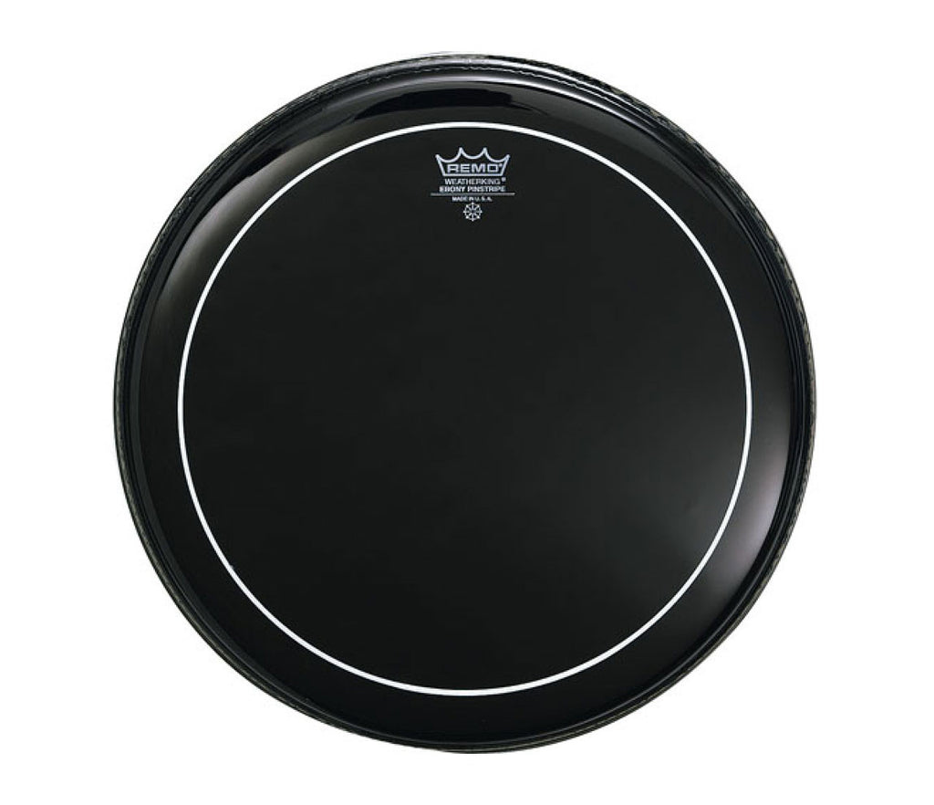 "Remo 20"" Ebony Pinstripe Bass Drum Head"