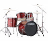 "Yamaha Rydeen 20"" Rock Fusion Drum Kit with Hardware in Burgundy Glitter"