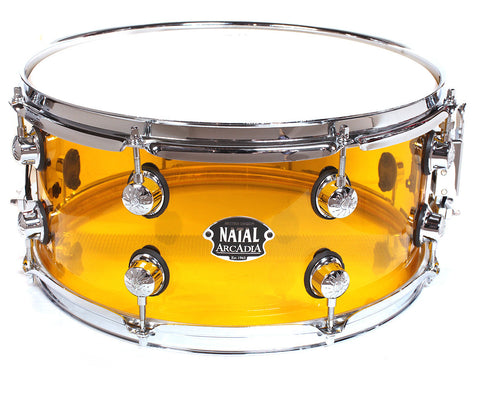 "Natal Arcadia 14"" x 6.5"" Transparent Orange Snare Drum"