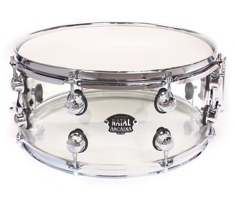 "Natal Arcadia 14"" x 6.5"" Transparent Snare Drum"