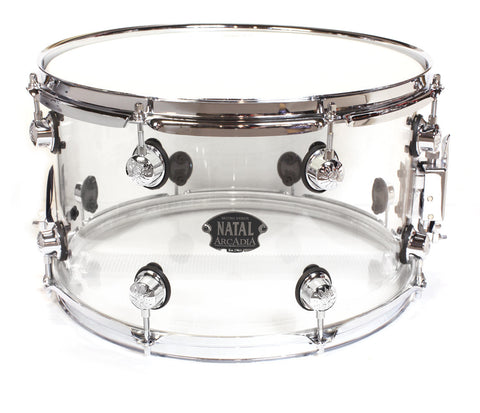 "Natal Arcadia 14"" x 8"" Transparent Snare Drum"
