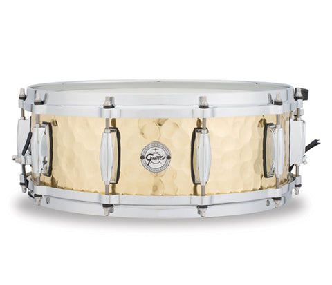 "Gretsch Silver Series Hammered Brass 14"" x 5"" Snare Drum"