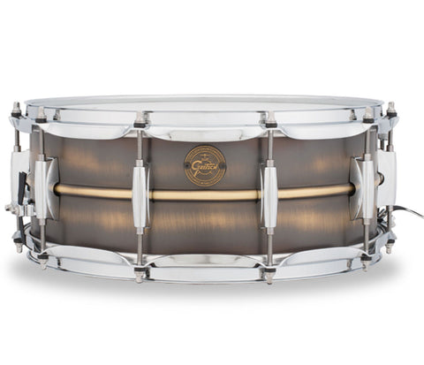 "Gretsch Gold Series Brushed Brass 14"" x 5.5"" Snare Drum"